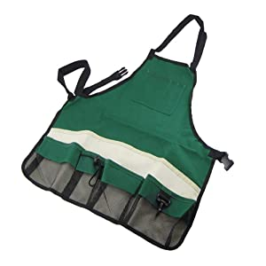 SYOOY Garden Apron with Pockets, Adjustable Neck and Waist Straps for Gardening Carpentry Lawn Care Women Men Workers - Waterproof