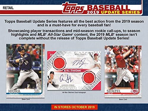 - 2019 Topps Update Baseball Retail Box (24 Packs/16 Cards: 1 Perennial All Stars Insert)