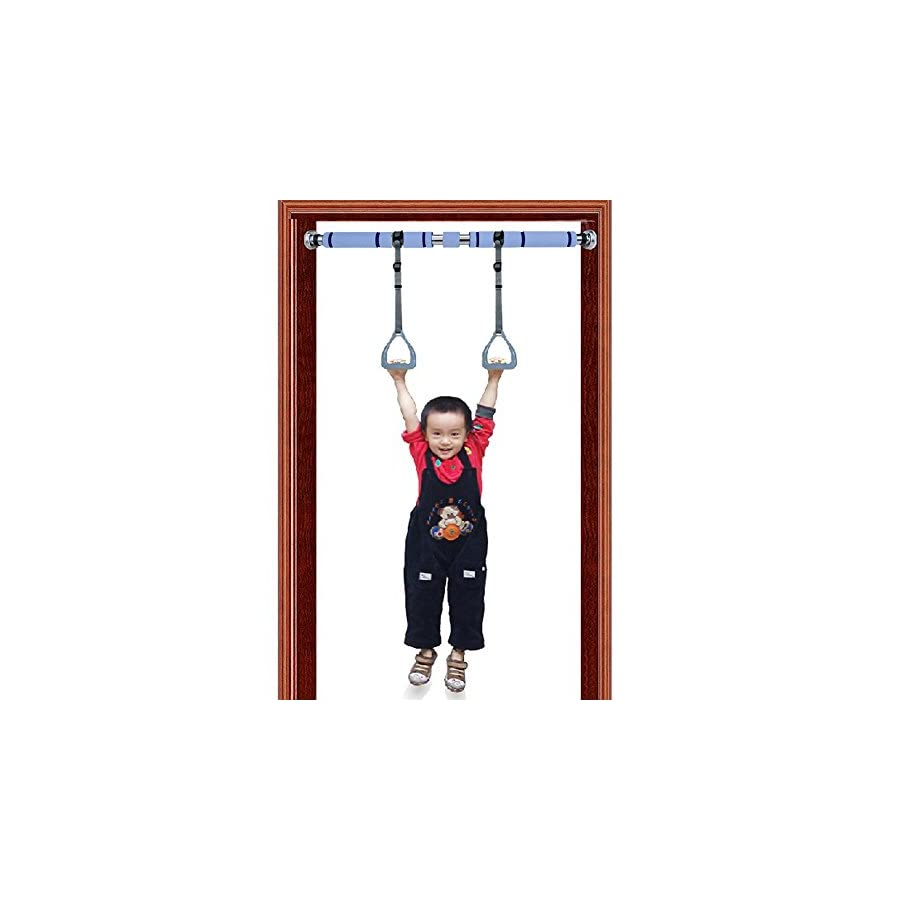 Pellor Gymnastic Rings with Fitness Pull Up Bar for Children, Trapeze for Full Body Strength and Muscular Bodyweight Training