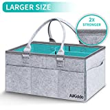 Baby Diaper Caddy Organizer for Changing Table, Nursery Storage Bin for Diapers, Baby Wipes Kid Toys, Portable Car Travel Storage Basket, Stylish Large Diaper Caddy, Baby Shower Basket