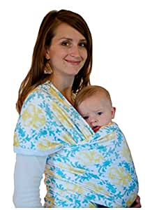 Zelie Wraps Damask Baby Wrap - Yellow & Teal