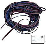 JACKYLED RGB Extension Cable Line 4 Color 30m for LED Strip RGB 5050 3528 Cord 4pin