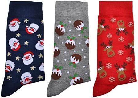 37-40 NEU Damen Socken mit Rentier-Motiv Rot Gr