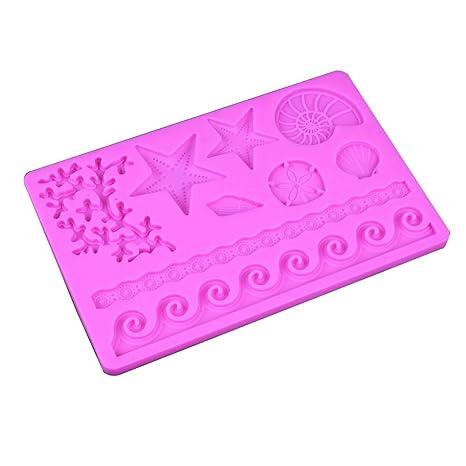 Joyfeel buy Molde Silicona reposteria 3D cáscara Molde Fondant DIY Molde Chocolate decoración de Pasteles gelatina