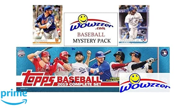 2019 Topps Baseball Exclusive Massive 706 Card Complete Factory Set With 2 Pete Alonso 2 Vladimir Jr Rookies Bonus Wowzzer Mystery Pack With