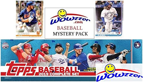 - 2019 Topps Baseball MASSIVE 706 Card Complete EXCLUSIVE Factory Set with (2) PETE ALONSO & (2) VLADIMIR JR ROOKIES & Bonus WOWZZER Mystery Pack with AUTO or MEM Card! Includes ALL Series 1 & 2 Cards!