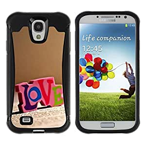 LASTONE PHONE CASE / Suave Silicona Caso Carcasa de Caucho Funda para Samsung Galaxy S4 I9500 / Love LOVE