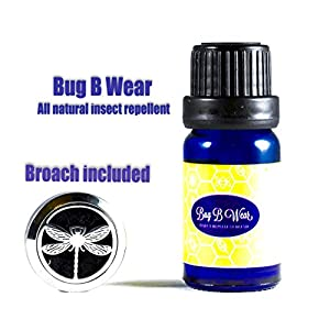 NEW Bug B Wear Essential Oil With Stainless Steel Dragonfly Broach Included Insect Repellent All Natural 10ML Great For Bug Protection. Makes a Perfect Gift