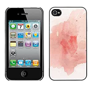Caucho caso de Shell duro de la cubierta de accesorios de protección BY RAYDREAMMM - Apple iPhone 4 / 4S - Paint Splash Expressionist Art