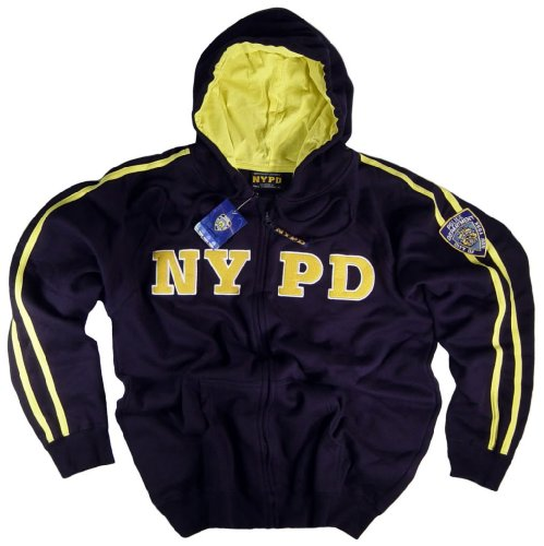 NYPD Shirt Hoodie Sweatshirt Navy Blue Authentic Clothing Apparel Officially Licensed Merchandise by The New York City Police Department Embroidered Letters and Logo Medium