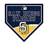 "San Diego Padres MLB 9.25"" x 9.25"" Home Plate Sign"
