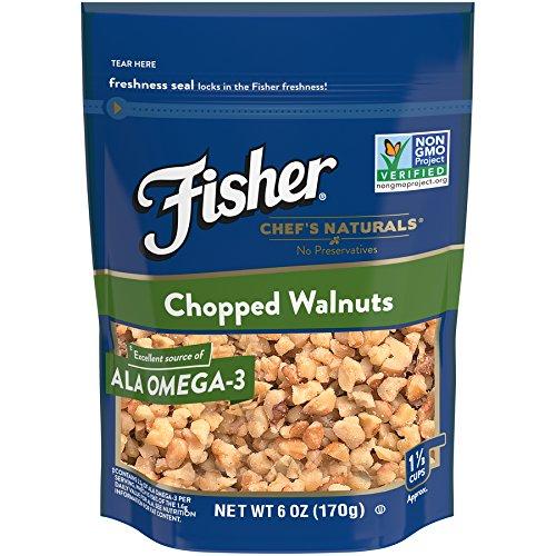 FISHER Chef's Naturals Chopped Walnuts, No Preservatives, Non-GMO, 6 oz