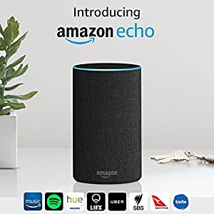 Introducing Amazon Echo (2nd generation), Charcoal Fabric