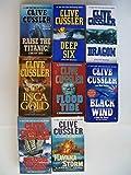 Dirk Pitt Series (Partial Set of 8) Raise the Titanic, Deep Six, Dragon, Inca Gold, Flood Tide, Black Wind, Treasure of Khan, Havana Storm