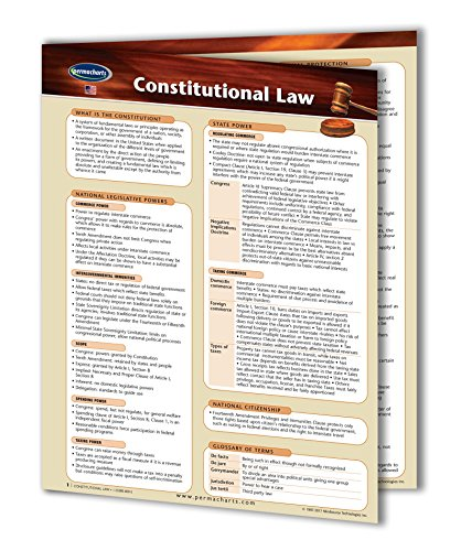 Constitutional Guide (Constitutional Law Guide - USA - Legal Quick Reference Guide by Permacharts)