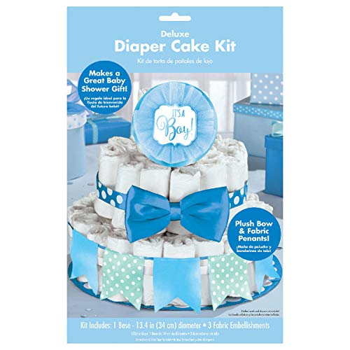 """""""It's a Boy"""" Deluxe Diaper Cake Decor Kit 