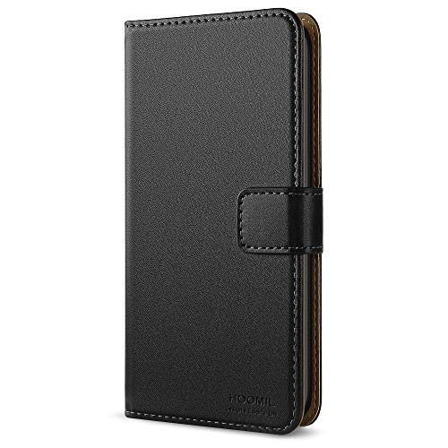 (HOOMIL Case Compatible with iPod Touch 6/iPod Touch 5, Premium Leather Flip Wallet Case for Apple iPod Touch 6th/5th Generation Cover (Black))