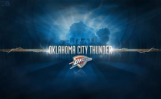 Oklahoma City Thunder Customized 23x14 Inch Silk Print