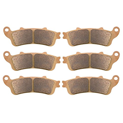 AHL Sintered Front & Rear Brake Pads Set for Honda GL1800 Goldwing (All Models) 2001-2013