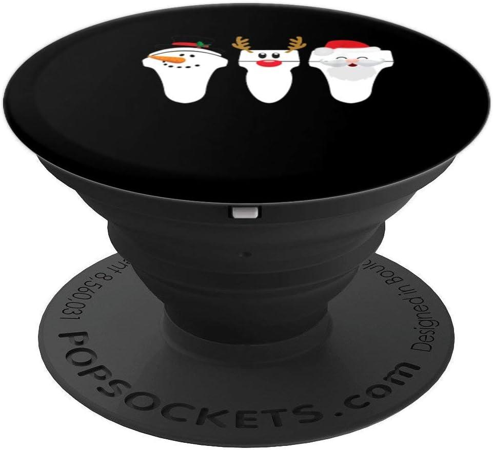 Transductor de ultrasonido navideño Sonda para ecografía PopSockets Agarre y Soporte para Teléfonos y Tabletas