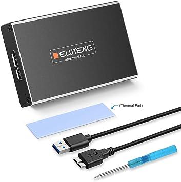ELUTENG USB 3.0 UASP a SATA NGFF M.2 SSD SATA III Adaptador de ...