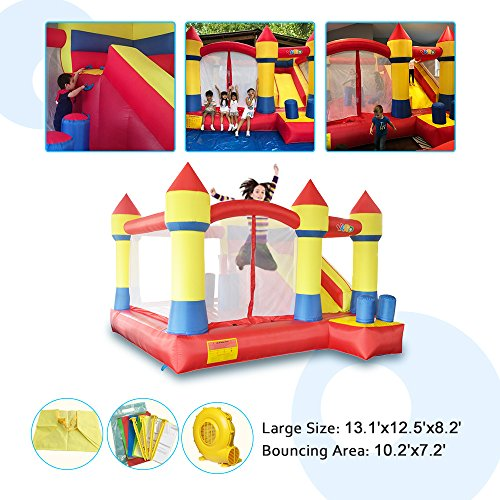 YARD Bounce House with Slide Obstacle Children Outdoor Jump Castle with Blower (13.1' x 12.5' x 8.2') by YARD (Image #3)