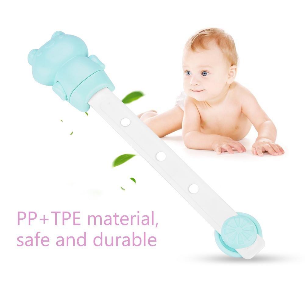 6 pcs Child Safety Locks Adjustable Adhesive Baby Safety Door Cupboard Drawer Cupboard(Green) by Yosoo- (Image #2)