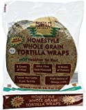 HomeStyle Whole Grain with Flaxseed Tortilla Wraps 20ct Kosher Certified by KSA
