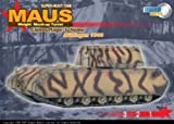 : DRAGON ARMOR 1/72 Scale Prefinished Fully-Detailed Model, Soviet- Captured German WWII Sd.Kfz.205 Panzer VIII Maus Super Heavy Tank with Weight Mock-up Turret and Delivery Paint Scheme Boblingen 1945 60157