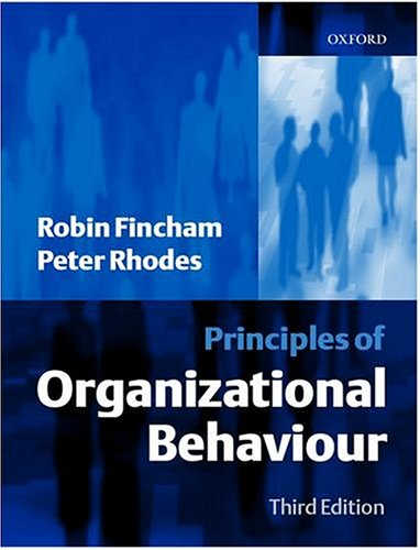 Principles of Organizational Behaviour
