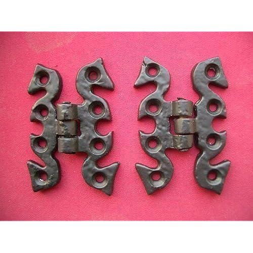 2 X Black Antique Iron Butterfly Door Cabinet Cupboard Hinges 50 X 68mm
