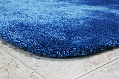 Maples Rugs Bathroom Rugs - Cloud Bath 30'' x 46'' Washable Non Slip Bath Mat [Made in USA] for Kitchen, Shower, and Bathroom, Federal Blue by Maples Rugs (Image #2)