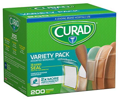 - Curad Variety Pack Adhesive Bandages, 200 Count