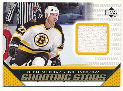 BIGBOYD SPORTS CARDS Glen Murray 2005/06 UD Upper Deck Shooting Stars Bruins RELIC Game Jersey SP F5 (All Star 06 Game)