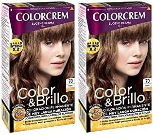 COLORCREM COLOR & BRILLO TINTE CAPILAR 70 RUBIO x 2 UDS ...