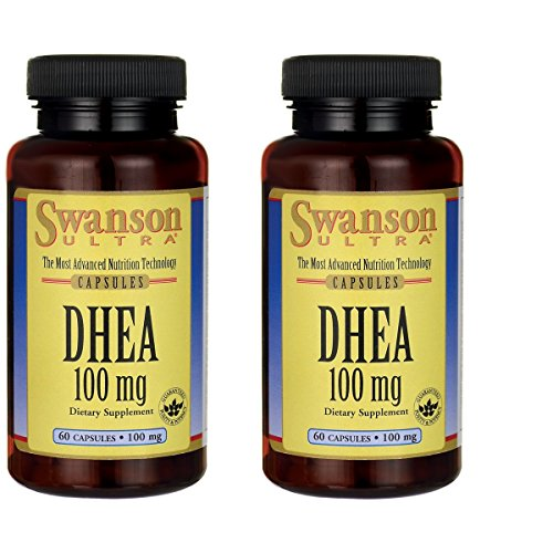 Swanson Dhea 100 Milligrams 60 Capsules 2 Pack by Swanson