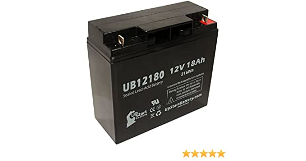 12V, 18Ah, 18000mAh, T4 Terminal, AGM, SLA Replacement UB12180 Universal Sealed Lead Acid Battery Replacement for BOOSTERPAC ES5000 Battery