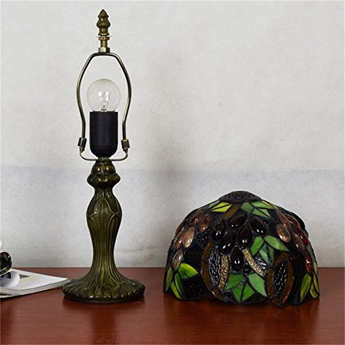 EuSolis E26 Tiffany Traditional Bedside and Table Lamps Handcrafted 8 Inch Flowers Stained Glass Luxury Bedside Lamps European Lamps for Living Room Bedroom Vintage 01 by EuSolis (Image #7)
