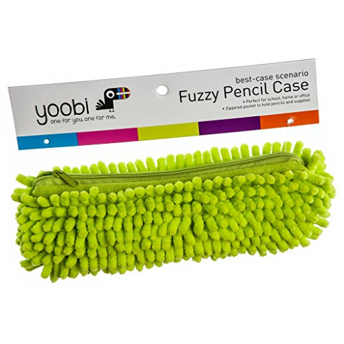 Yoobi Fuzzy Pencil Case Chartreuse (green)