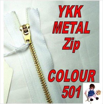 18cm White Jeans Zip