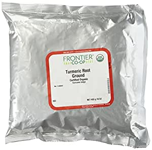 Frontier Herb Organic Powdered Turmeric Root Supplement, 16 OZ (453 g)