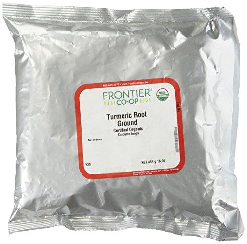 Frontier Turmeric Root Powder Organic Fair Trade Certified  1 Lb