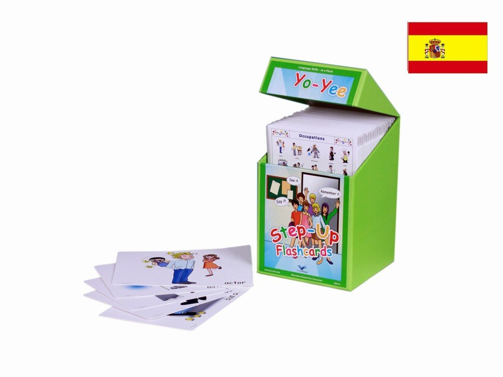Spanish Step Up Flash Cards Kit for Teachers - Palabras e imagenes - Español para niños