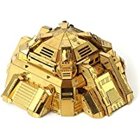 New MU BH-N01 Blockhouse 3D DIY Metal Puzzle Model Gold Color Collection 757030mm By KTOY