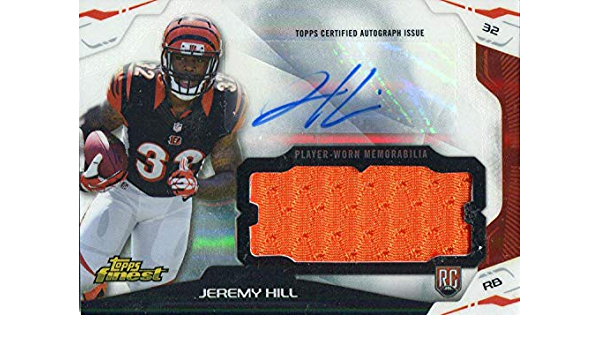 Jeremy Hill Autographed 2014 Topps Finest Rookie Jersey Card ...