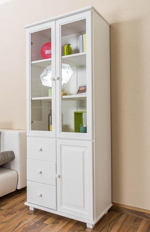 Mobile da soggiorno, vetrina, larghezza 80 cm, in legno di pino ...