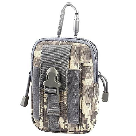 Unigear Compact Multi-Purpose Tactical Molle EDC Utility Gadget Pouch Tools Waist Bag Pack (ACU) - Modular Knife Sheath