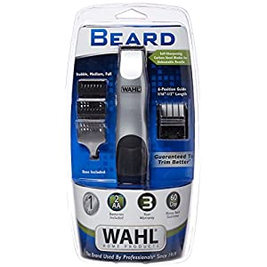 Wahl Clipper Groomsman Trimmer for Men for Beard, Mustache, Stubble, Battery Operated (Batteries included in Kit) Great Holiday Gift for men for travel, by the Brand used by Professionals #9906-717