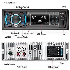 BOSS Audio 616UAB Car Stereo, Single Din, Bluetooth, USB/MP3/WMA AM/FM Radio