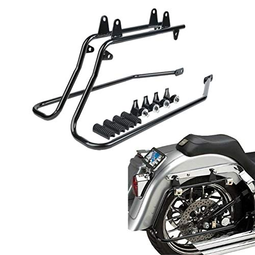 - TCMT Black Saddlebag Saddle bag Conversion Brackets Fits For Harley Davidson Heritage Softail 1986-2013